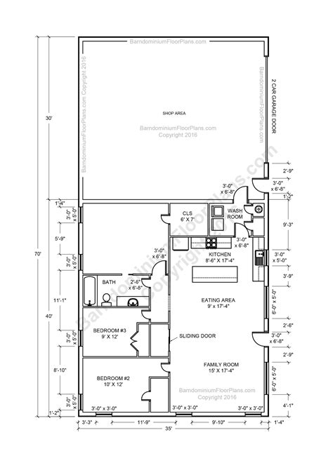 1 bedroom garage apartment floor plans barndominium floor plans for planning your barndominium