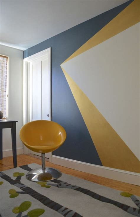 wall painting designs in blue colour 25 dazzling geometric walls for the modern home freshome Simple