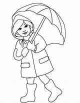Rain April Coloring Clipart Boots Rainy Season Pages Printable Umbrella Spring Drawing Showers Clip Cliparts Slicker Clothes Colouring Colour Seasons sketch template