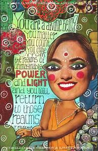 Teesha Moore | AJ's Art Journaling | Page 3  Being