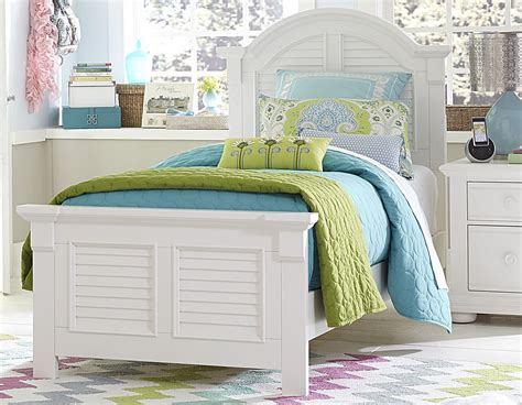summer house oyster white youth panel bedroom set from