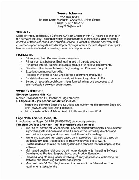 13 unique sle resume format for experienced software