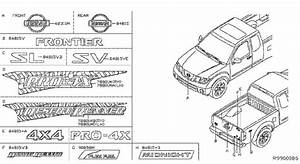 Nissan Frontier Tailgate Emblem  Flxfuel