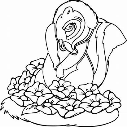 Coloring Pages Printable Christmas Flower Bambi Colouring