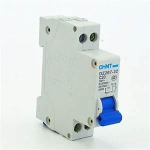 Prise 20 Ampere : chint circuit breaker mcb dz47 c type 1pole 20amp 230 400v ~ Premium-room.com Idées de Décoration