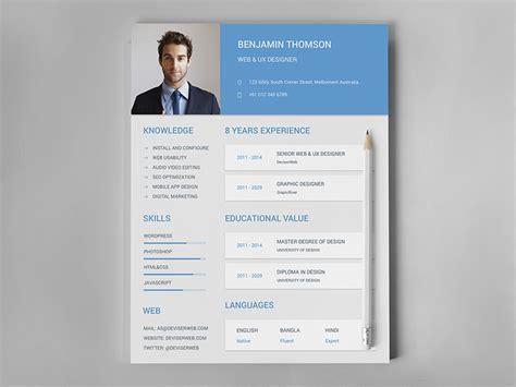 material design resume cv set materialup