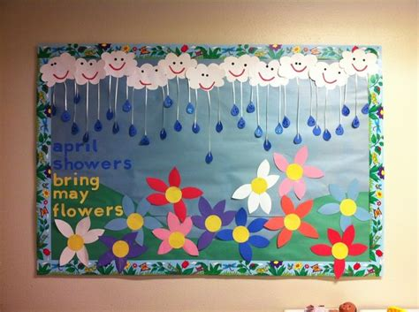 bulletin board 1 crafts and worksheets for 208 | 007829080ba8317de1b84ee7f087f56a april bulletin board ideas spring preschool bulletin board ideas