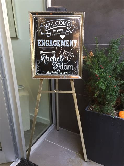 engagement party signs banners mid south bride