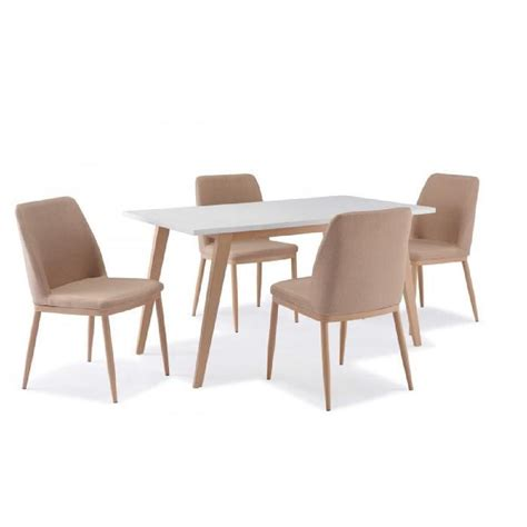 table a manger et chaises table 4 chaises scandinave yeta achat vente table a