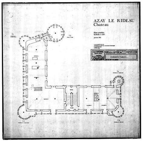 chateau d azay le rideau plan of second floor