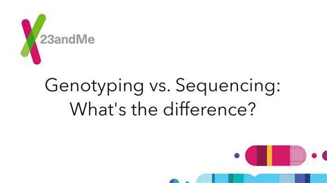 Genotyping Vs. Sequencing