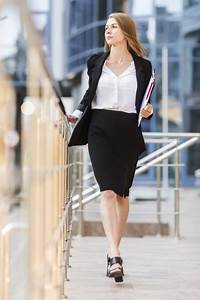 Business Save The Date Templates Free Elegant Business Woman Walking To Camera Free Photo