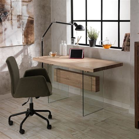table  mangerbureau en verre  mdf ivo design moderne