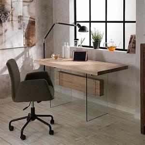 Bureau En Verre Design : table manger bureau en verre et mdf ivo design moderne ~ Teatrodelosmanantiales.com Idées de Décoration
