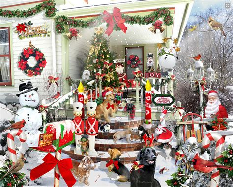 jigsaw puzzles crazy christmas 1000 piece puzzle by white mountain