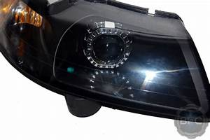 2003 Ford Mustang Cobra HID Projector Headlights Black & Chrome Square | BlackFlameCustoms.com