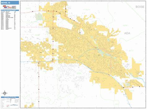 Boise Idaho Wall Map (basic Style) By Marketmaps