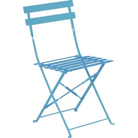leroy merlin chaise chaise de jardin en acier flore bleu leroy merlin