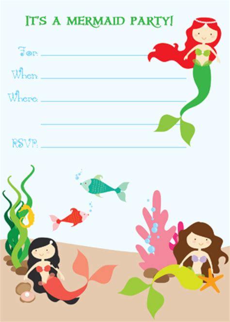 free mermaid invitation templates free printable mermaid birthday invitation orderecigsjuice info