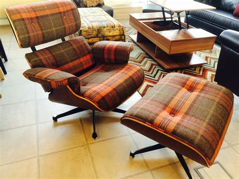 Tartan Fabric Eames Lounge chair and Ottoman   Be Fabulous!