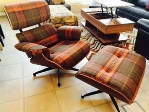 Eames Chair Lounge : tartan fabric eames lounge chair and ottoman be fabulous ~ Buech-reservation.com Haus und Dekorationen