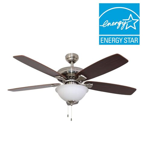 best energy star ceiling fans sahara fans ardmore 52 in brushed nickel energy star