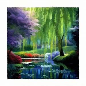 Toile De Jardin : tableau peinture dessin tableau jardin impressionniste une toile de sudpastel impression sur ~ Teatrodelosmanantiales.com Idées de Décoration