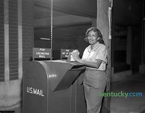Lexington's first peacetime female mail carrier, 1963 ...