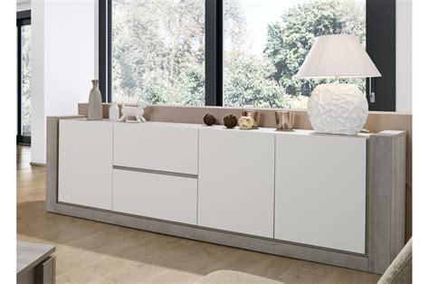 armoire pour chambre à coucher meuble buffet design blanc mat 2m50 trendymobilier com