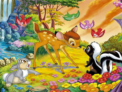 cartoon walt disney bambi thumper  flower disney hd
