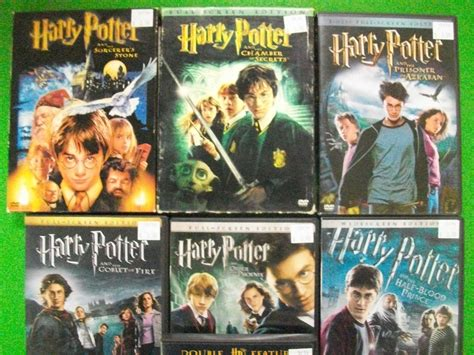 Harry Potter 1 2 3 4 5 6 7 8 DVD Movies COMPLETE Series ...
