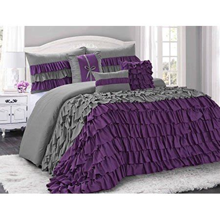 bedding sets clearance queen 7 brise color ruffled clearance bedding