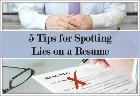 How To Lie On A Resume And Not Get by Discover How To Identify Lies On A Sales Resume