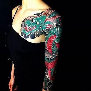 Tatouage Japonais Bras : 1001 id es tatouage dragon japonais mythologie et ~ Melissatoandfro.com Idées de Décoration