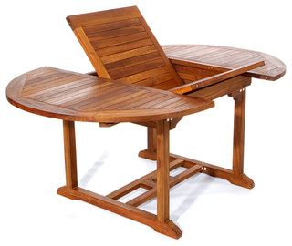 teak patio oval extension table foldable