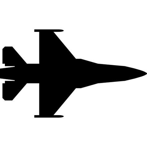 fighter jet silhouette  transport icons