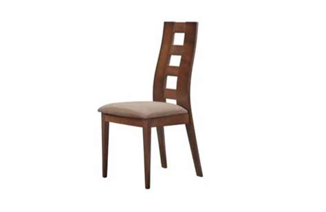 contemporary fabric and wood dining chair with curved back