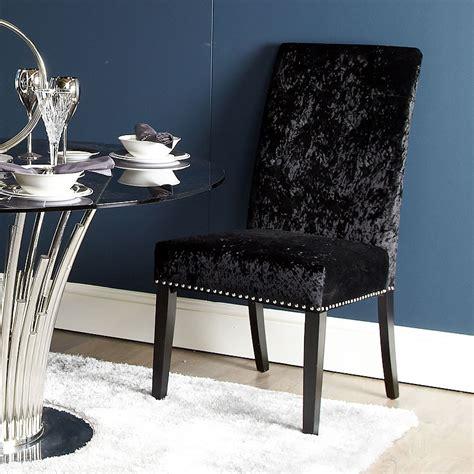 elegant black dining chair  soft velvet picture