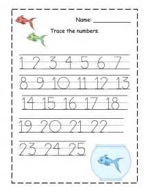 Printable Number Worksheets Number Trace Worksheets For Activity Shelter