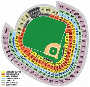 Busch Stadium Seating Chart With Rows And Seat Numbers