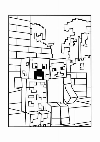 Minecraft Coloring Creeper Alex Pages Printable Marvellous