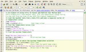 formatting matlab programs using cells