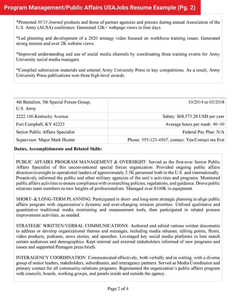 federal resume samples  writing tips careerpro