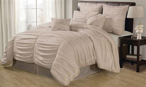 ruched comforter set groupon goods