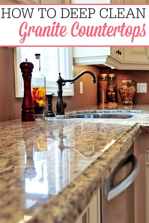deep clean granite countertops frugally blonde