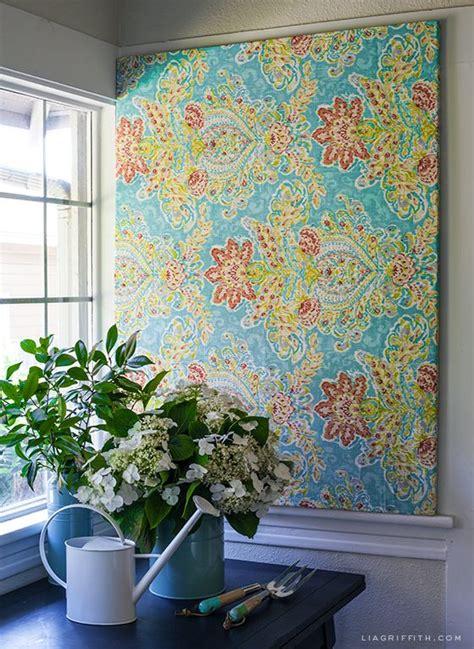 ideas  fabric walls  pinterest starch