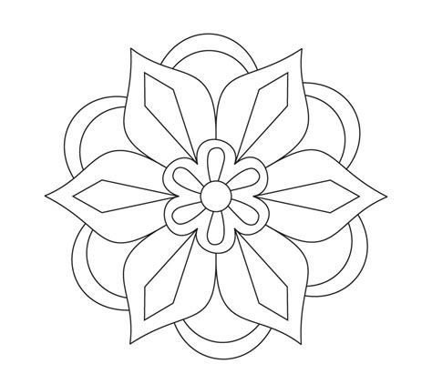 You can use the preselected colors or the color picker for more control. Rangoli coloring pages to download and print for free