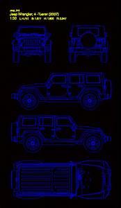 Jeep Wrangler Model 2007 In Autocad
