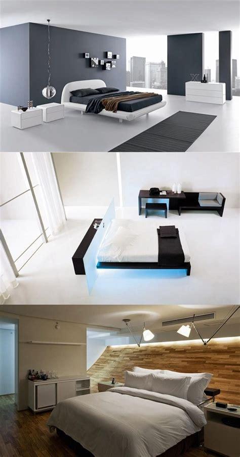 interesting high tech touches   modern bedroom