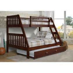 donco kids washington twin over full bunk bed with trundle